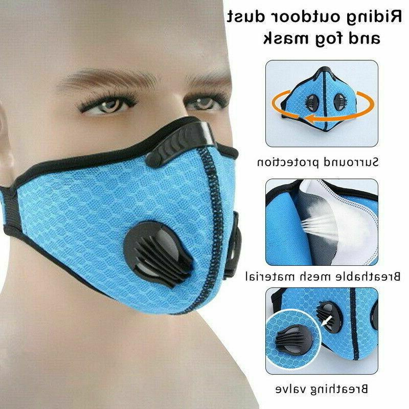 Reusable Mask with Carbon Valves Cycling Outdoor