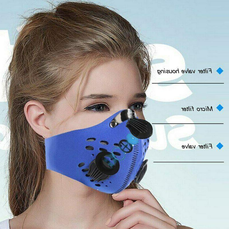 Reusable Mask with Air Breathing Carbon Filter