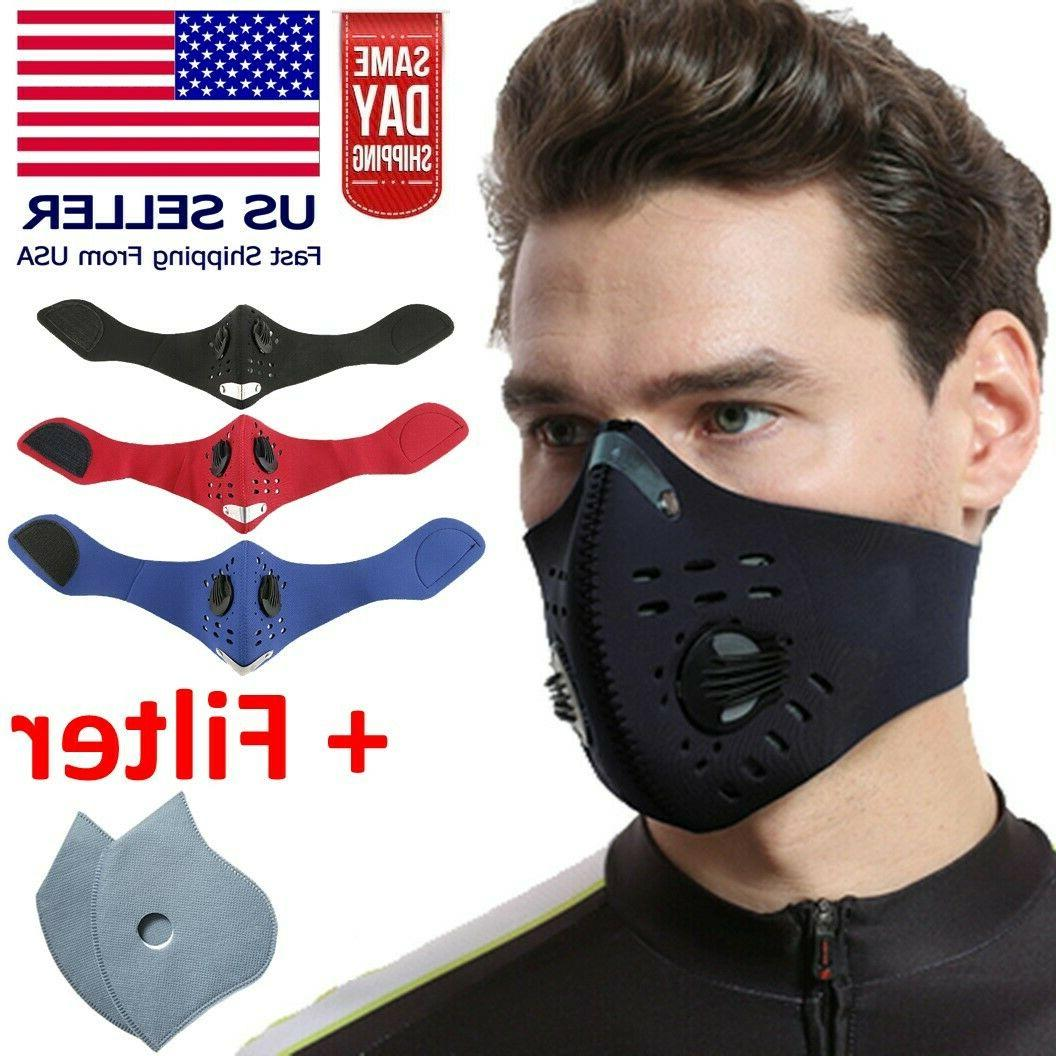 reusable neoprene face mask with dual air