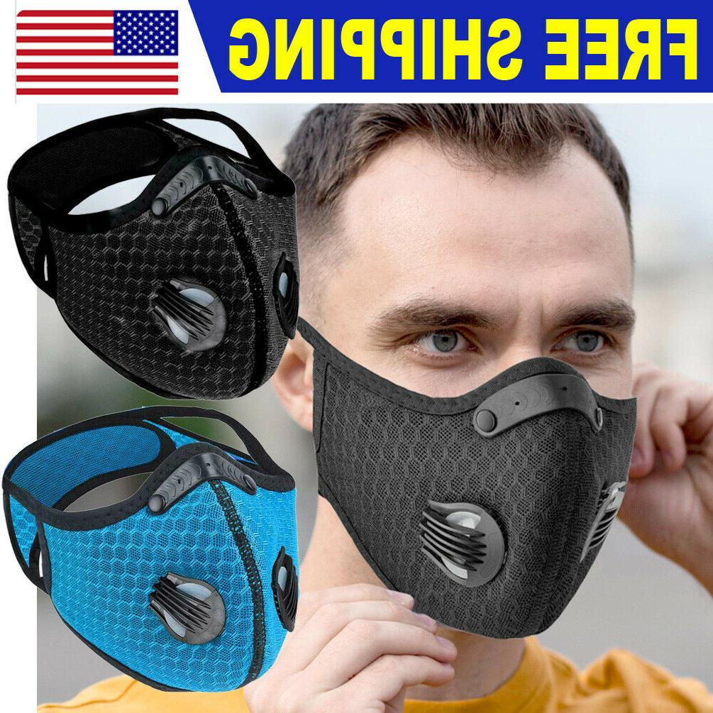 reusable sport face mask breathing valves replaceable