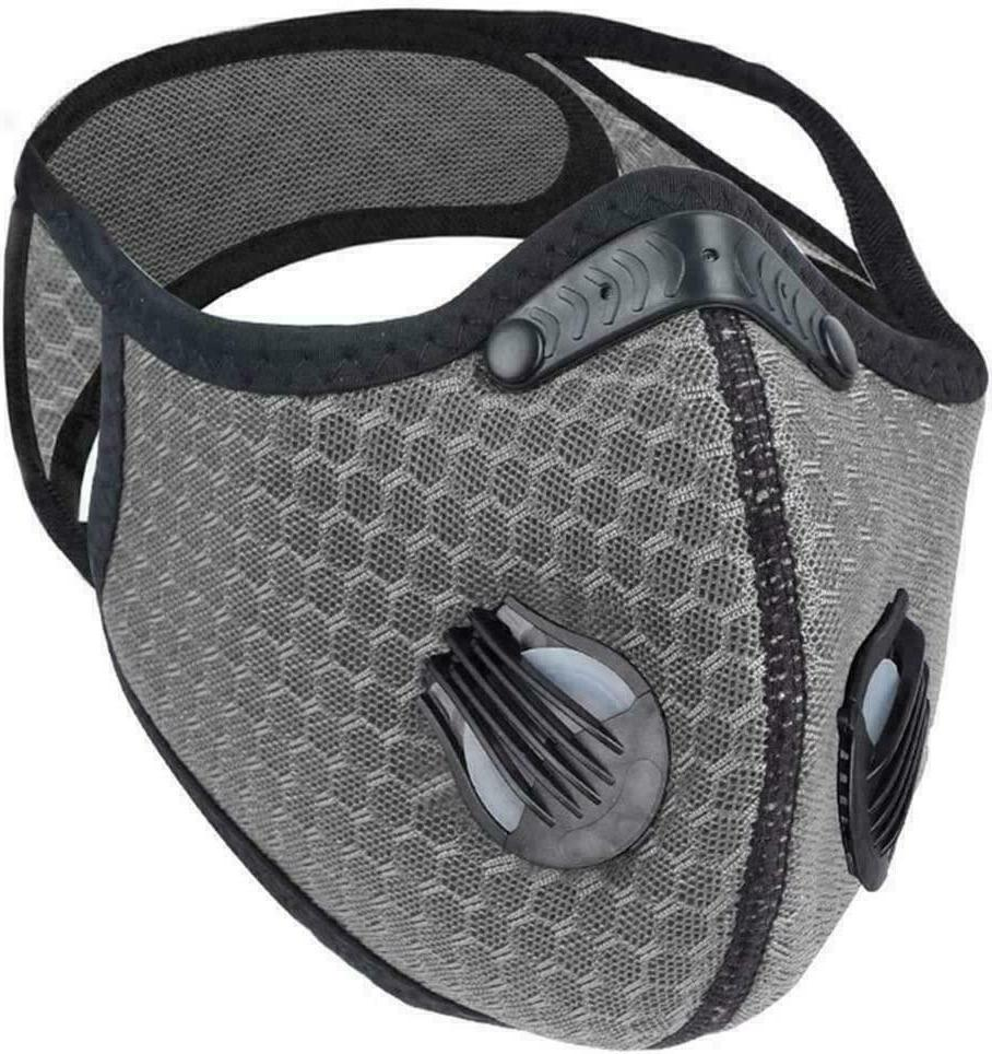 Reusable Cycling Face Mask W/ Carbon