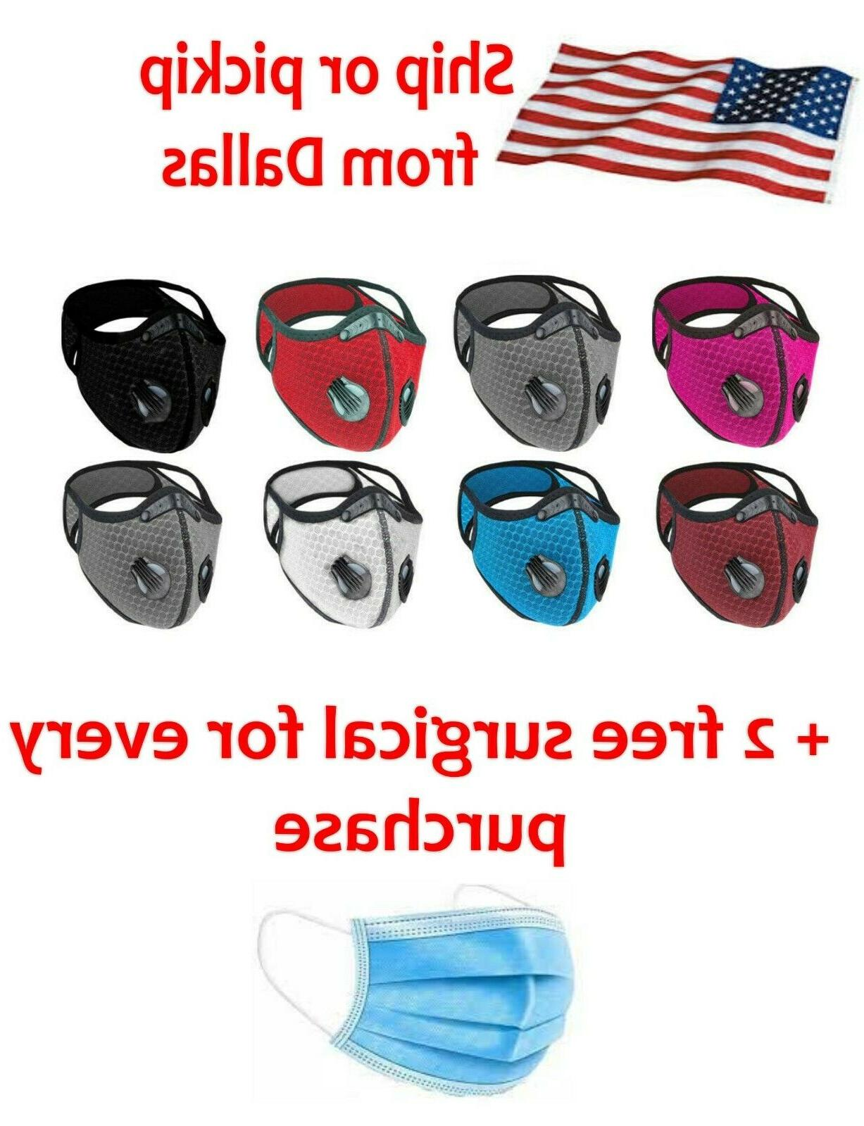 reusable style cycling sports face mask breathing