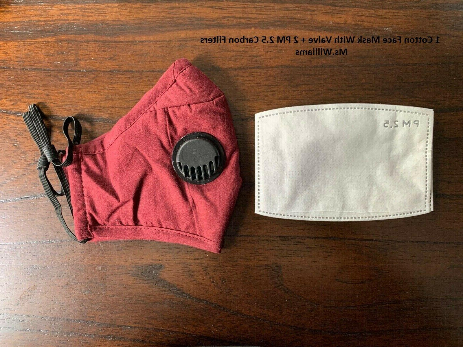 Reusable Cloth Face Mask with + PM2.5