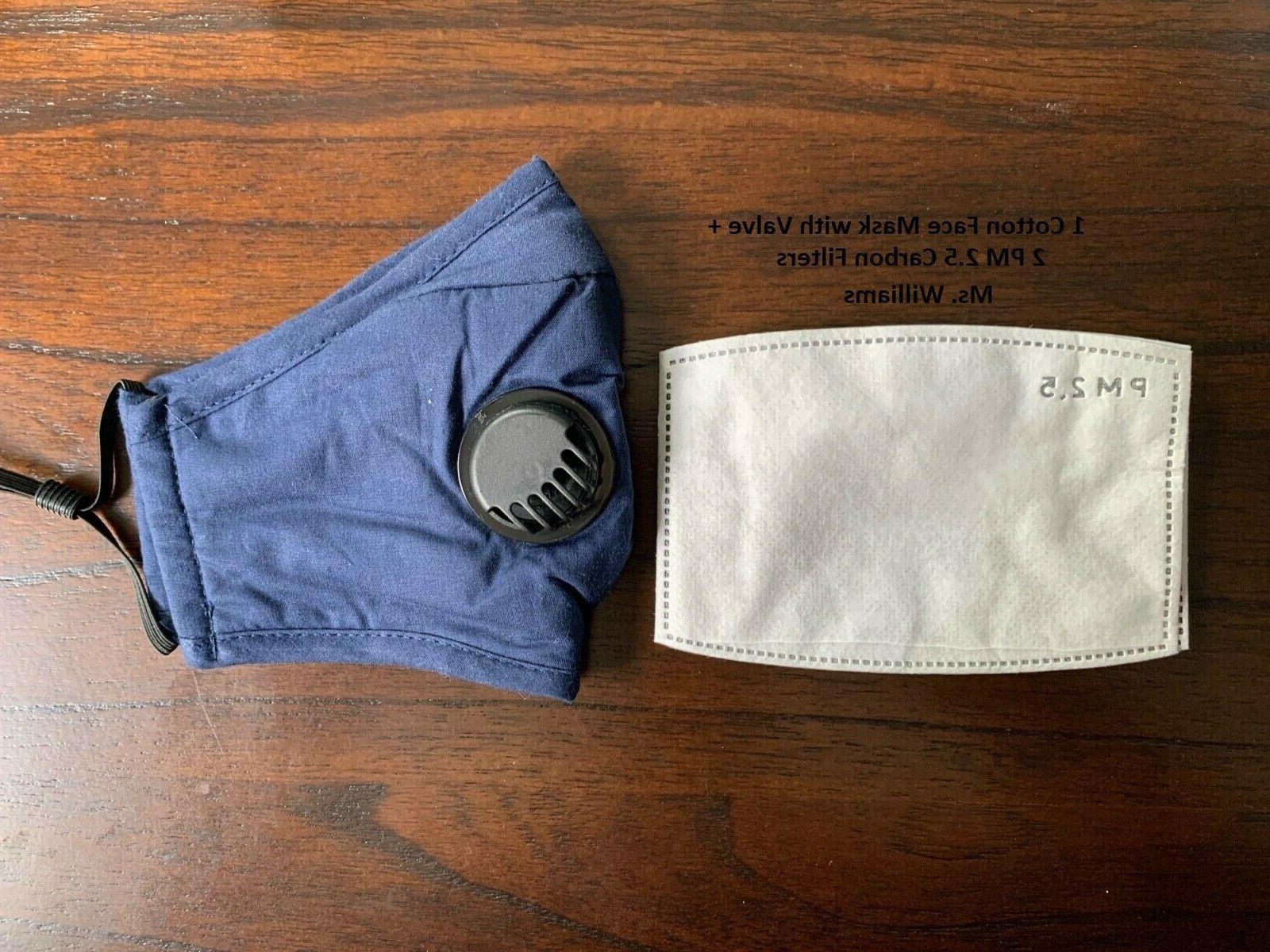 Reusable Washable Cloth + Filter Blue