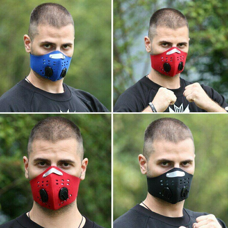 Reusable Face Mask with Breathing Valve Filter