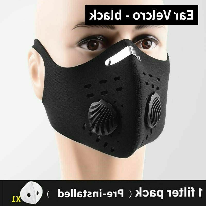 reusable washable neoprene air ventilation sport face