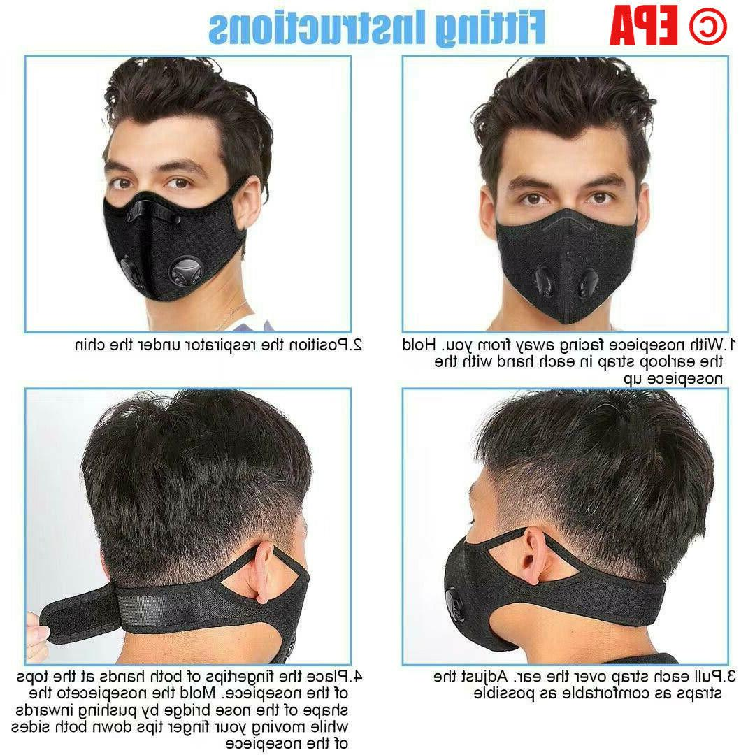 Running Cycling Breathable Outdoor Sport Mask With Filter Activated Carbon