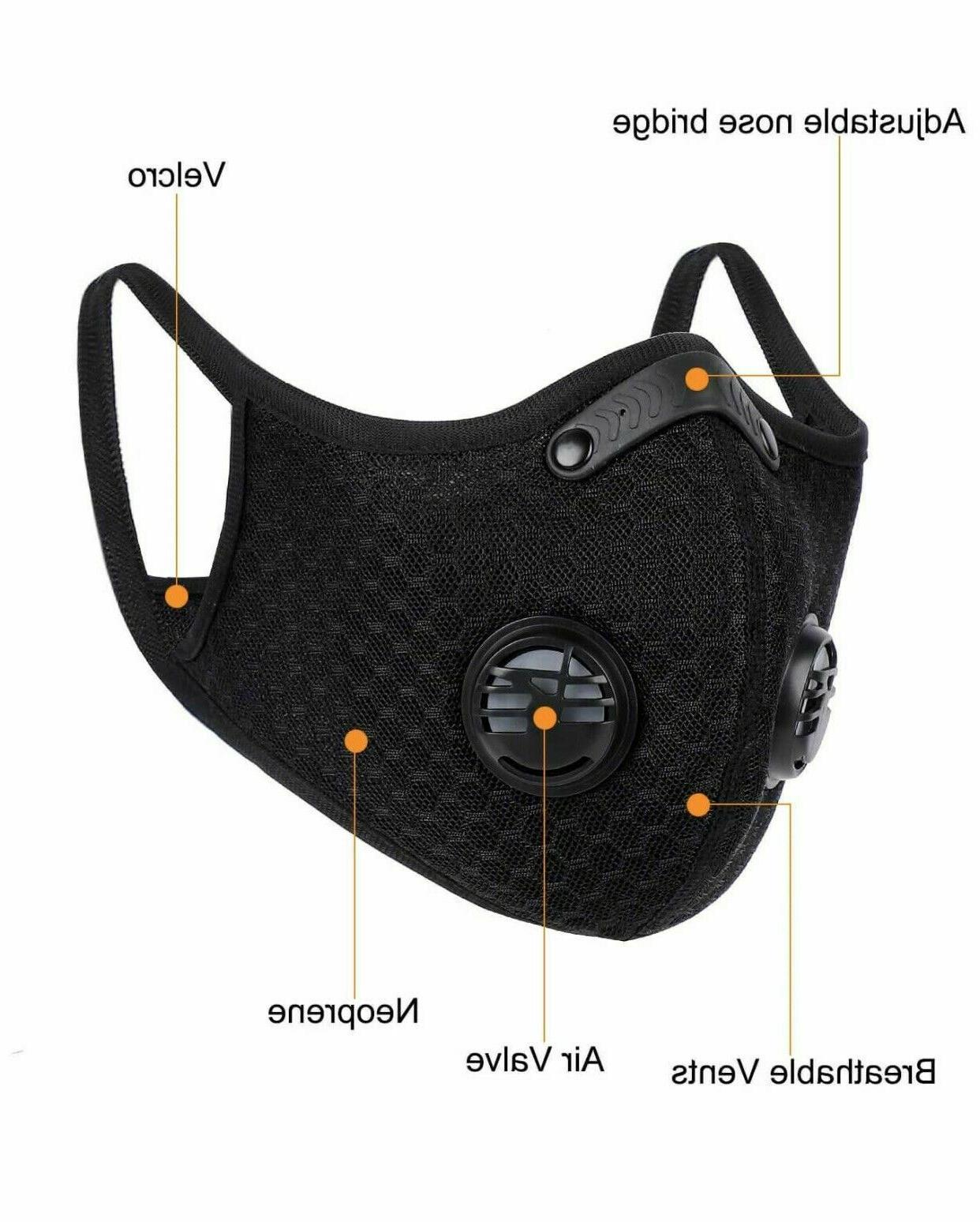 Running Cycling Breathable Outdoor Sport Mask Filter