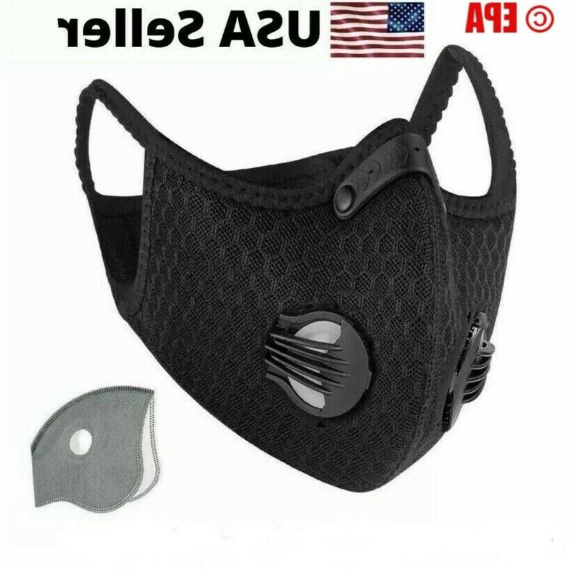 Running Cycling Breathable Outdoor Sport Face Mask With Filt
