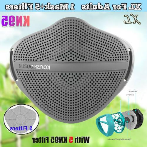 Reusable Face Masks With 5 Filters PM2.5 Safety Mask Separat