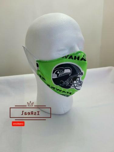 seattle seahawks face mask adjustable 100 cotton