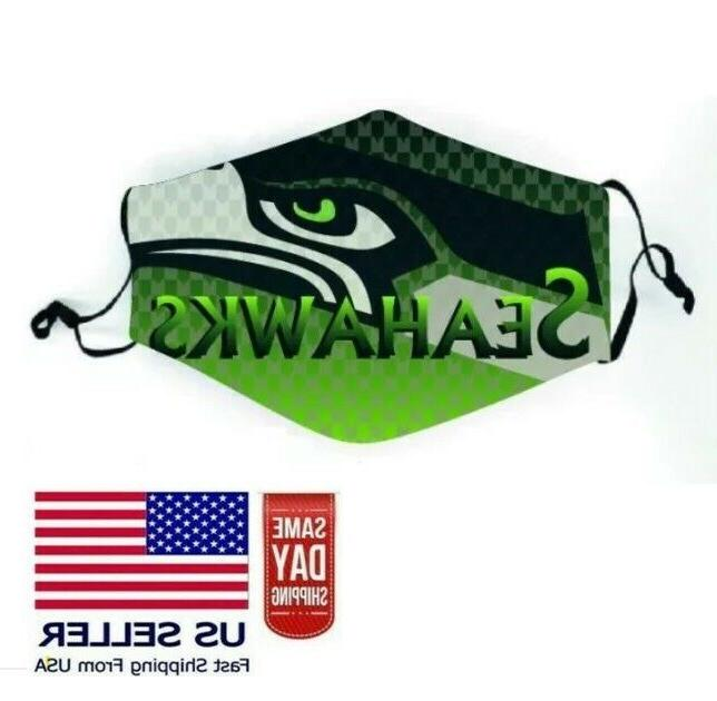 seattle seahawks nfl face mask adjustable 2