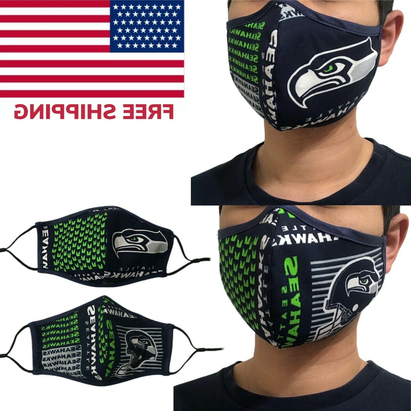seattle seahawks nfl quality fabric face mask