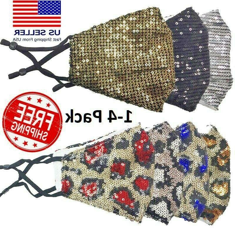 sequin glitter face mask fashion bling sparkly