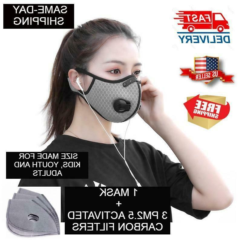 sport face mask with pm2 5 filter