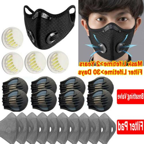 sports face mask breathing valve outdoor air