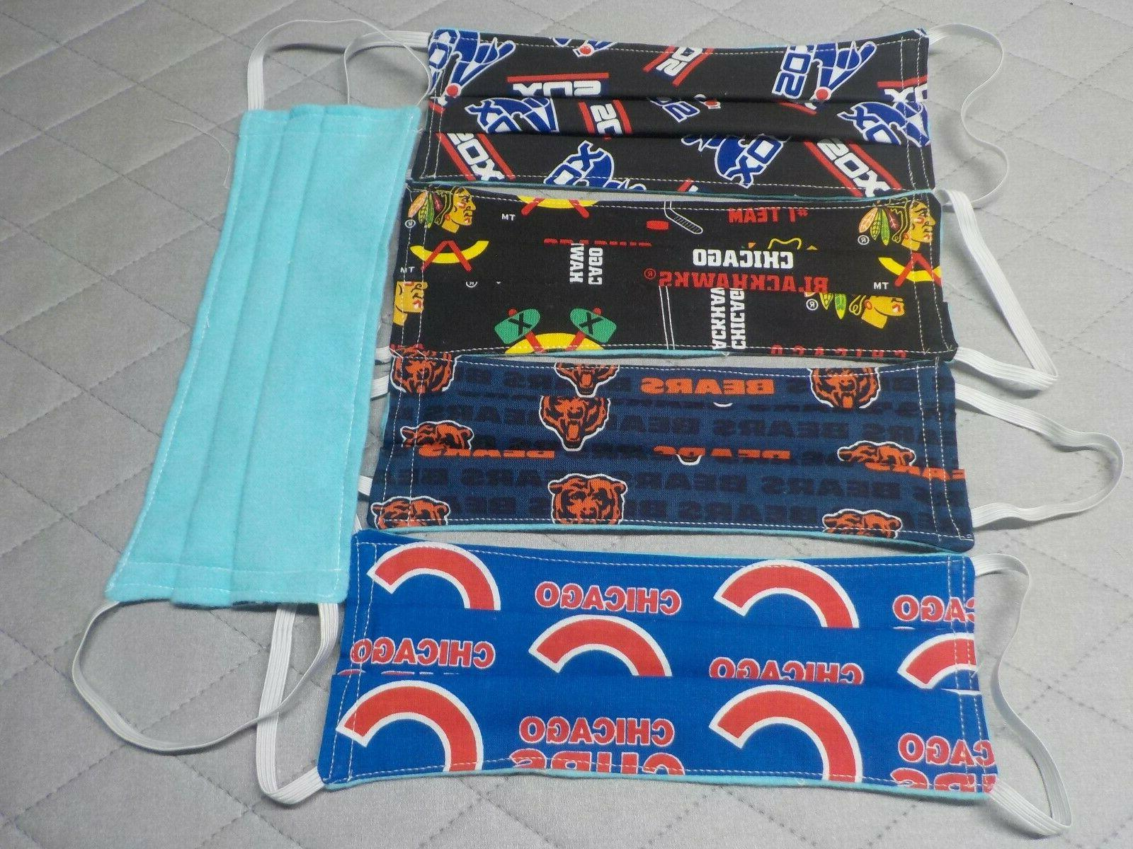 sports face mask cotton flannel lined chicago