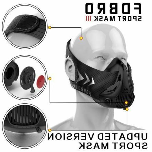 sports mask fitness training running resistance altitude
