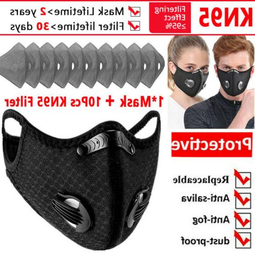 sports mask with 10pcs activated carbon filter