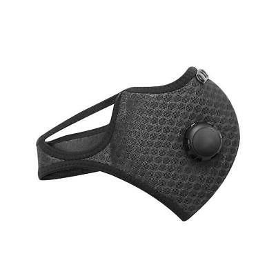 Sports Face Mask Activated Carbon Filter Exhale Valves