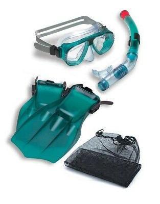 swim central water sports green mask snorkel