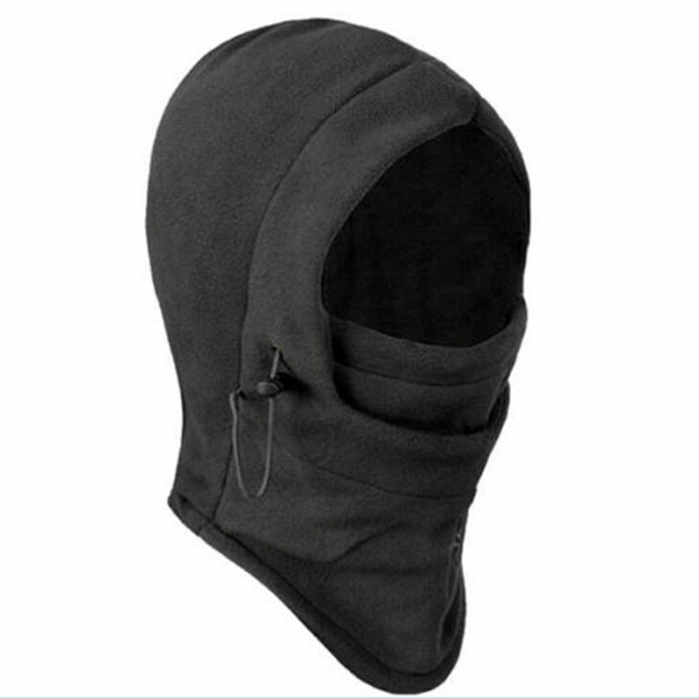 thermal fleece balaclava hat hooded neck warmer
