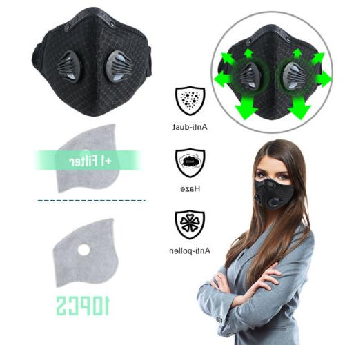 training face cover air pollution breathable filter