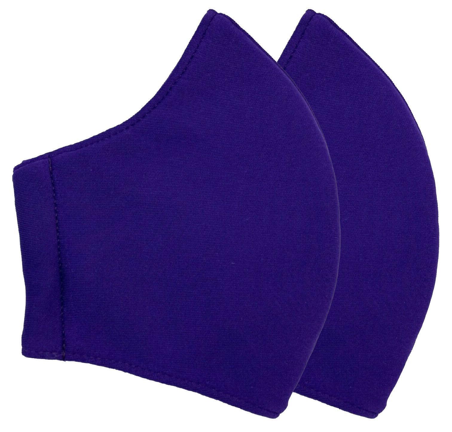 Triple Layers 2 Face Mask Polyester/Cotton Reusable Unisex MultiColor