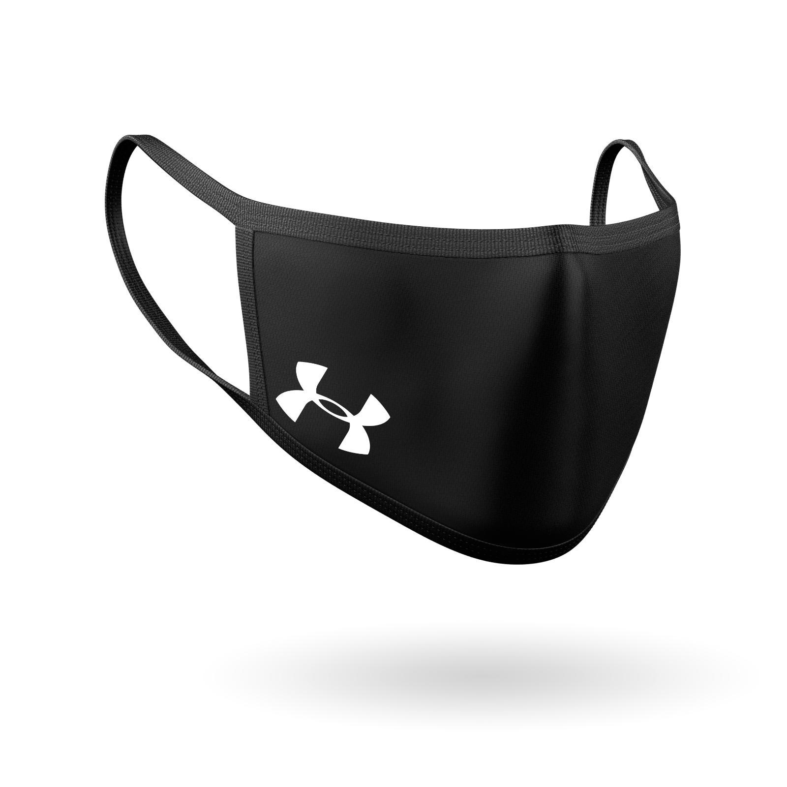 under armor inspired logo face mask washable