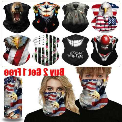 Unisex Protection Tube Mask Washable Face Cover Neck Gaitor