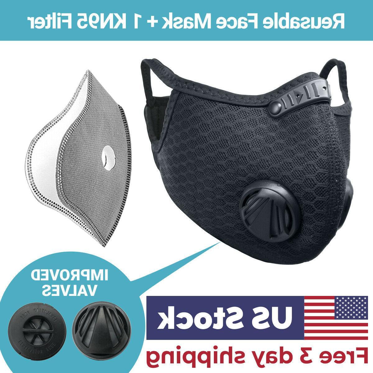 usa seller cycling air purifying face mask