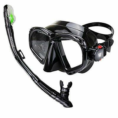 WACOOL Snorkeling Package Set for Adults, Anti-Fog Coated Gl
