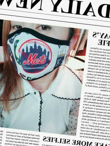 washable face mask w filter pocket sports