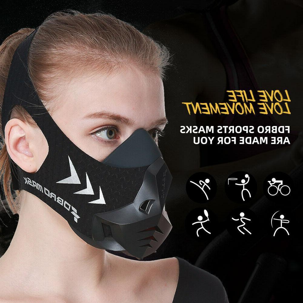 FDBRO Workout Cycling Sport Masks Resistance Mask