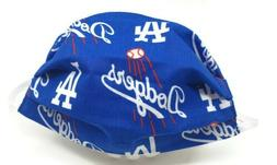 LA Dodgers MLB Face Mask Washable Reusable with Filter Pocke