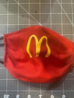 MC DONALDS RED  Face mask Sports Reusable Mouth Mask!