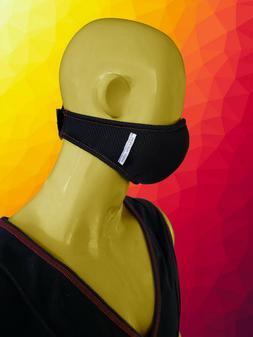 Men's Black Mesh Sports Face SUPER MASK Football Running Exe