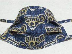 "Men's ""St. Louis Rams"" Tie-Style Face Mask."
