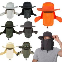 men unisex bucket hat neck flap face