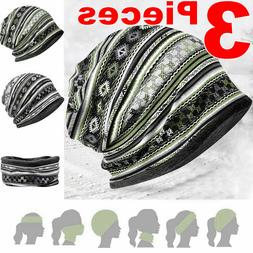 3Pcs Men Face Masks Neck Warmer Gaiter Face Cloth Mask Hats