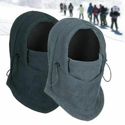 Mens Sports Face Mask Hooded Neck Warmer Winter Thermal Flee