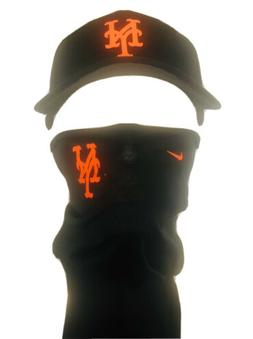 mets face mask uv tubing cool scarf sports and cap combo new