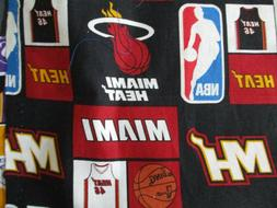 Miami Heat Basketball Cotton Piece  Quilt, Sew, Mask  Remnan