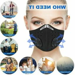 Sports Face Mask Outdoor w/ Filter Activated Carbon Anti PM.