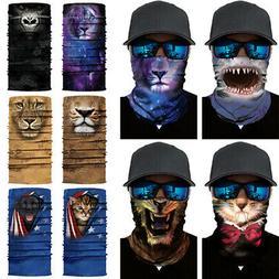 Multi-use Adult Balaclava Neck Tube Biker Scarf Face Mask Su