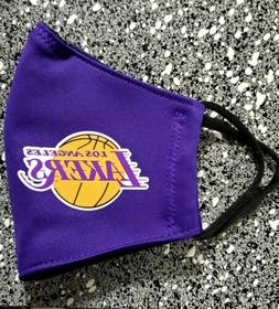 NBA Lakers Face Mask Fabric Washable, Reusable Handmade Made