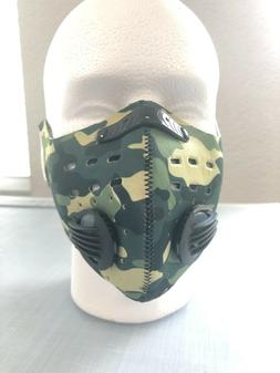 Neoprene Sports Face Mask With 5 Layer Filter Activated Carb