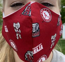 NEW ALABAMA Crimson Tide DELUXE Face Mask W/insert Opening M