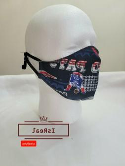 NEW ENGLAND PATRIOTS FOOTBALL Face Mask Washable Reusable.