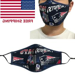 New England Patriots NFL Football Quality Fabric Face Mask